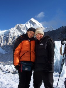 Jennifer Adams and I during an early morning filming break at Everest Base Camp 2005. Our special frendship continues today.